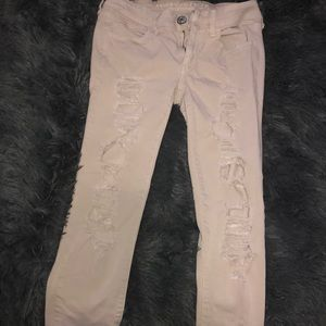 american eagle ripped pants